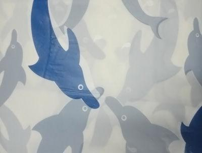 Шторка GS-6PEVA05 (дельфины) 180*180 см.