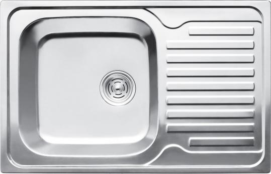 F5078 Мойка с крылом глянцевая