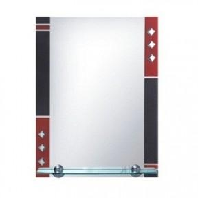 F604 Зеркало с красно-чёрн. рамкой