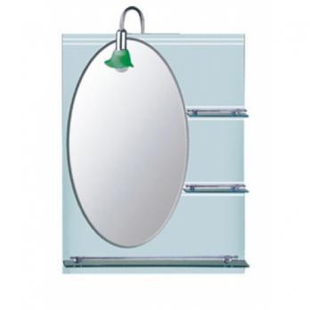 F607 Зеркало матовое овальное с полочками