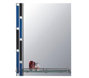 F620 Зеркало с сини-черн. вставками