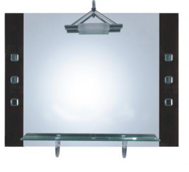 F630 Зеркало чёрное с внутр.светиль.
