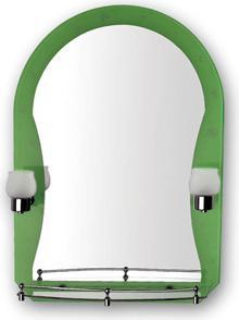 F652-46 Зеркало с зеленым краем