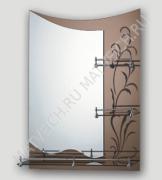 F687 Зеркало с декор. краем и 3-мя полками