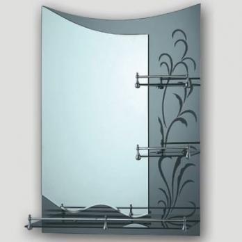 F688 Зеркало с декор. краем и 3-мя полками