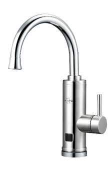 Смеситель-водонагреватель проточного типа, нерж. корпус , LED-экран, без УЗО, EC-330