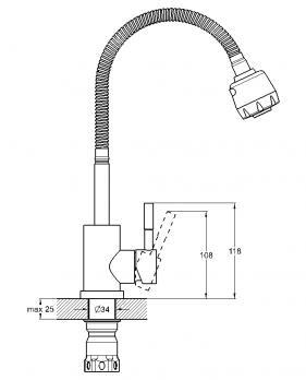 Cм-ль для кухни монолитный EZA4-A090
