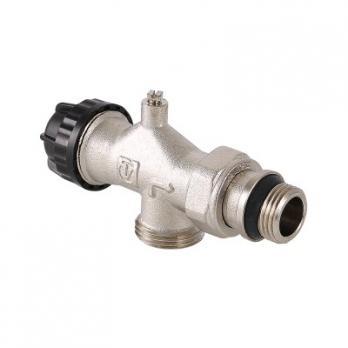 Клапан термостатический угловой с осевым управлением, предварительной настройкой и воздухоотводчиком