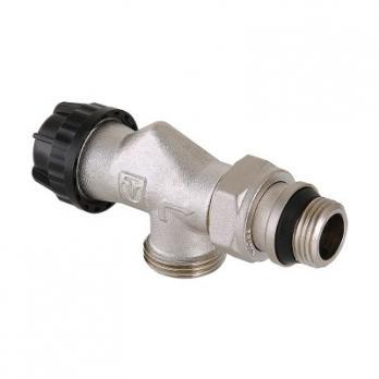 Клапан термостатический угловой с осевым управлением, преднастройкой и дополнительным уплотнением