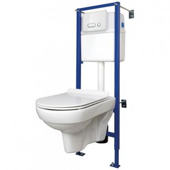 Комплект: CITY NEW CLEAN ON (унитаз подвесной с сиденьем slim DP lift+инст.LINK PROс кн.INTERA стек