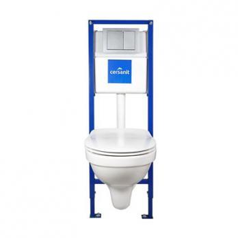 Комплект: DELFI (унитаз подвесной с сиденьем slim DP lift+инст. VECTOR с кн. LINK хром мат)