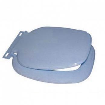 Сиденье для унитаза голуб.мрам. квадр. (МИНСК)