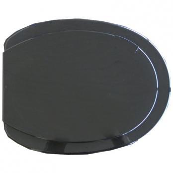 Сиденье для унитаза черное круг. №3 (Минск)