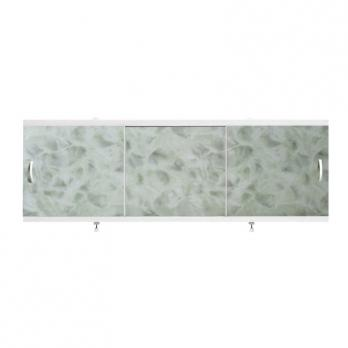 "Экран для ванн 1,5 м ""Оптима"" пластик светло-зеленый мрамор (14)"