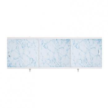 "Экран для ванн 1,5 м ""Оптима"" пластик светло-голубой мрамор (3)"
