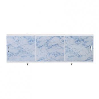 """Экран для ванн 1,5 м """"Оптима"""" пластик серо-синий мрамор (41)"""