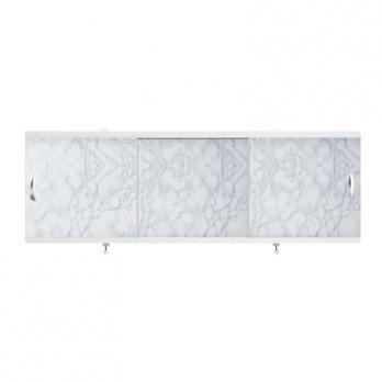 """Экран для ванн 1,5 м """"Оптима"""" пластик светло-серый мрамор (15)"""