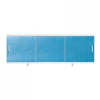 "Экран для ванн 1,5 м ""Оптима"" пластик синий капли (11)"