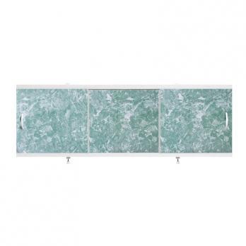 "Экран для ванн 1,5 м ""Оптима"" пластик темно-зеленый мрамор (8)"