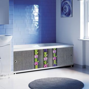 "Экран под ванну 1,5 м ""Оптима Decor"" (037 орхидея)"