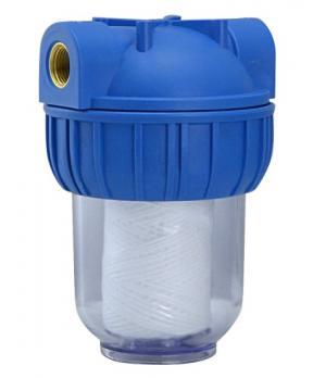 Магистральный фильтр с нитянным полипропиленовым картриджем (5мкр) 1/2-B-B, CB-5FY-2