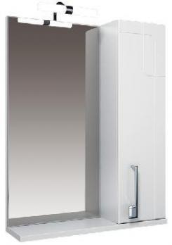 """Зеркало """"Диана-65""""с подсветкой, белое, шкаф"""