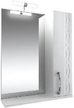 """Зеркало """"Кристи-65"""" с подсветкой, белое, шкаф"""